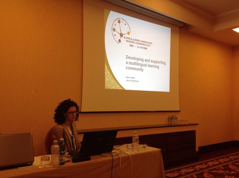 01. Developing and supporting a multilingual learning community, IB Regional Conference, Roma, 2014