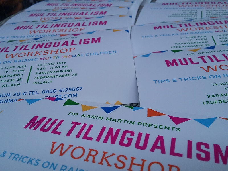 11. Workshop Tipps and tricks on raising multilingual children, Villach (Austria) 2016